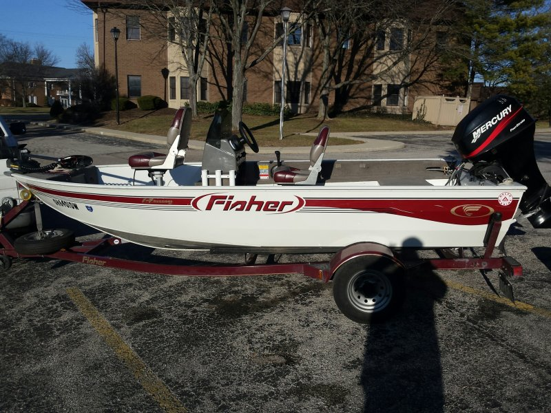 2004 fisher avenger sc 14ft 5in with 2001 40hp mercury for 16 foot aluminum boat motor size