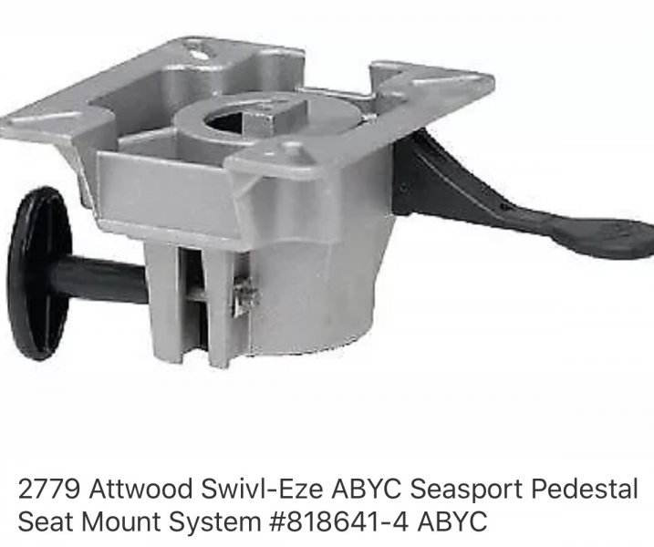 Attwood pedestal boat seat mount | Ohio Game Fishing - Your