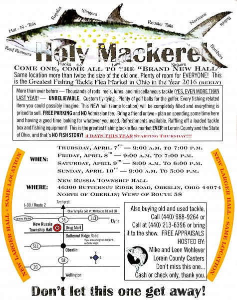 2016 fishing tackle flea market april 7th thru 10th for Fishing flea market near me