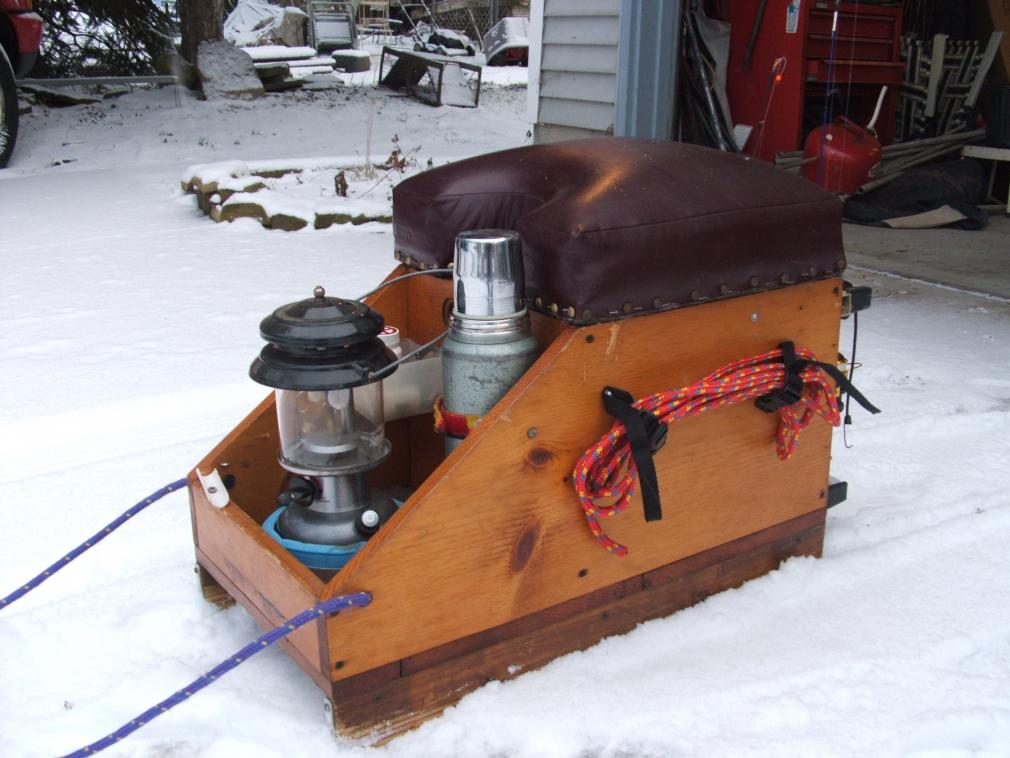 Ice fishing sled for Ice fishing snowmobile
