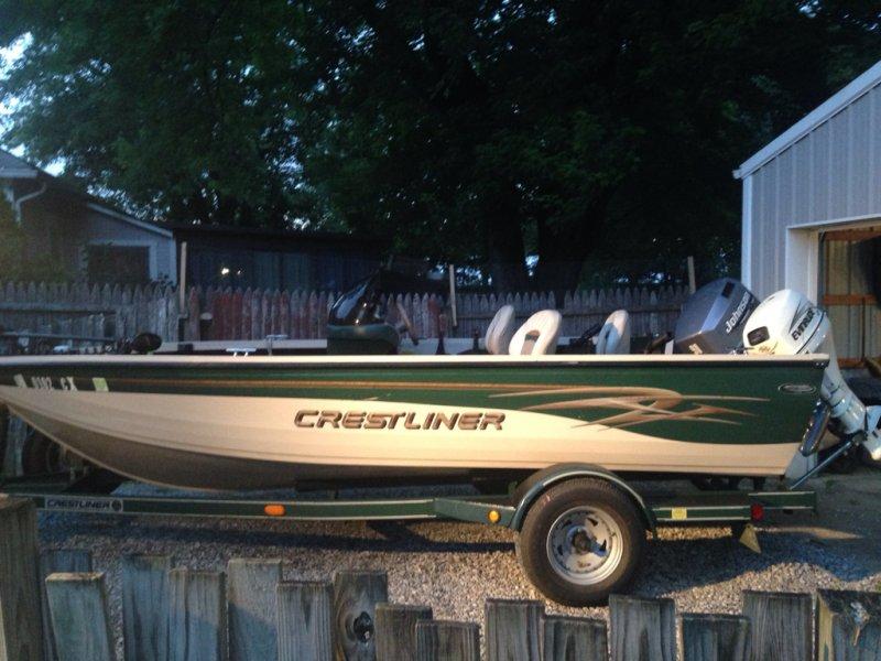 For sale 2001 crestliner 1650 fish hawk ohio game for Crestliner fish hawk