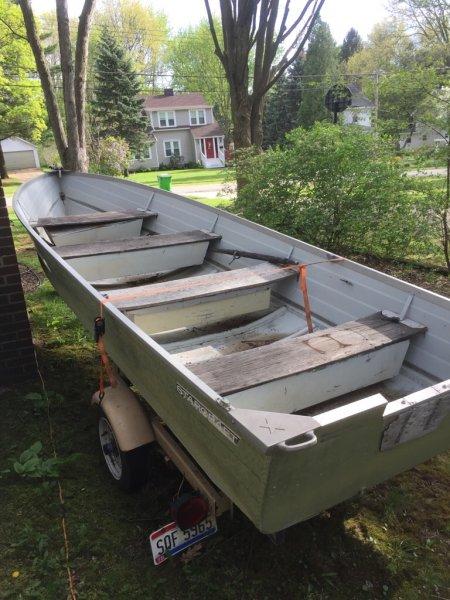 16 ft Starcraft aluminum boat and trailer | Ohio Game Fishing