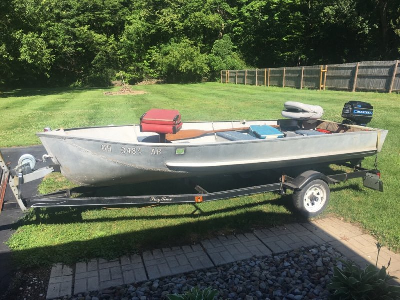 1960 lonestar 13 39 8 boat motor trailer for sale ohio game for Fishing boats for sale in ohio