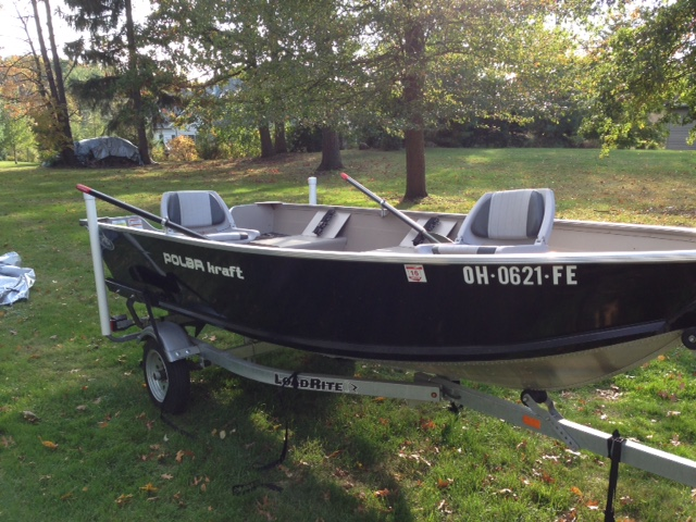 2013 polar kraft dakota 14 foot aluminum boat ohio game for 14 ft fishing boat