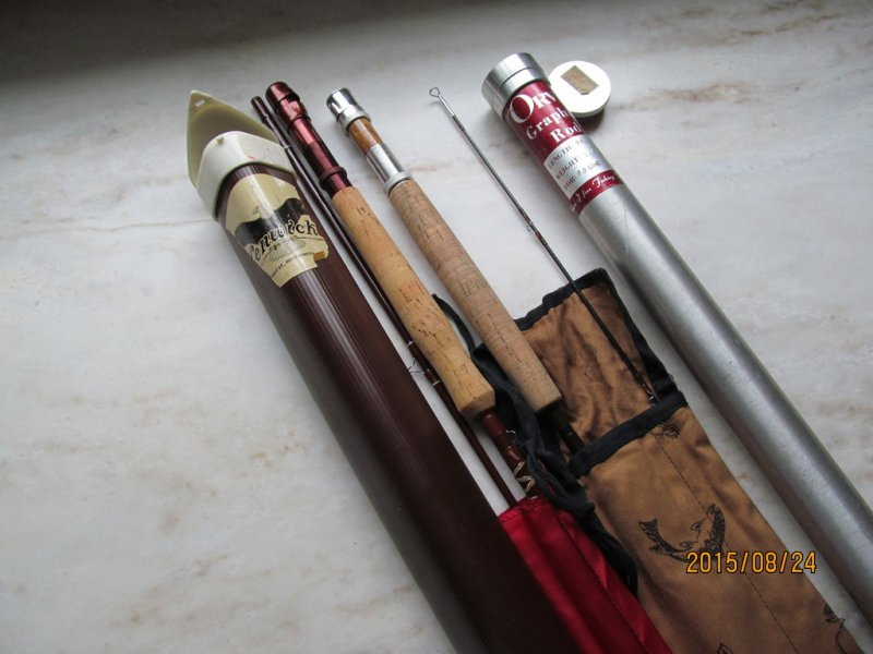 Vintage fenwick fiberglass fly rods and orvis graphite fly for Vintage fishing poles