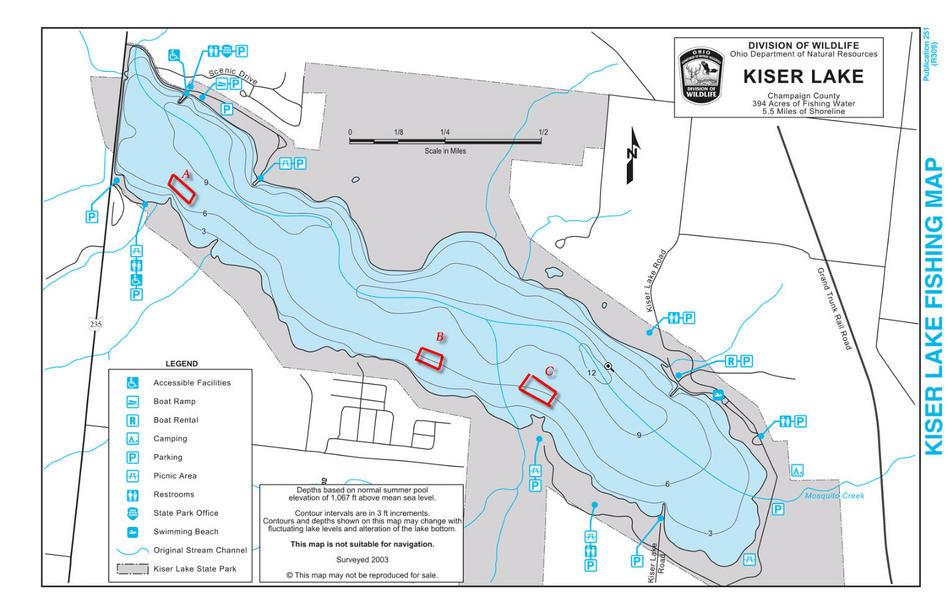 Kiser Striper Ohio Game Fishing Your Ohio Fishing Resource - Kiser lake map