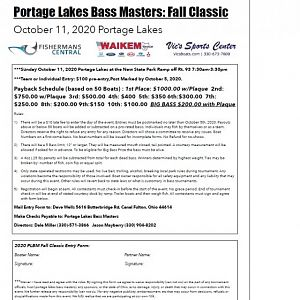Portage Lakes Bass Masters: Fall Classic