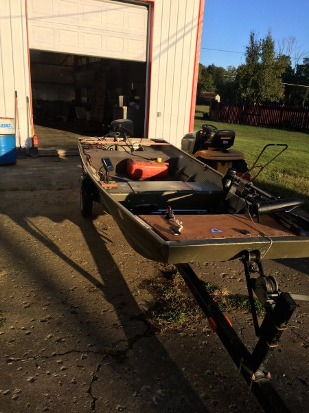 2003 Lowe 1436 Flat Bottom w/motor and trailer | Ohio Game